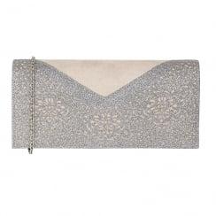 Lotus Fidda Grey & Pewter Glitz Clutch Bag - 1708