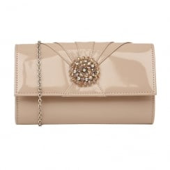 Lotus Aria Nude Patent Occasion Bag - 1721