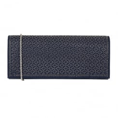 Lotus Tadine Navy Diamante Occasion Bag - 1745