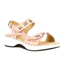 Laura Vita Duchesse Rose Comfort Velcro Flat Sandals