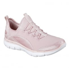 Skechers Womens Flex Appeal 2.0 Mixed Media Pink Sneakers