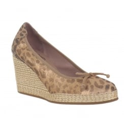 Wonders Leopard Print Wedge