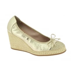 Wonders Gold Metallic Wedge