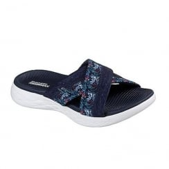 Skechers On the GO600 Monarch Navy Slip On Sandals