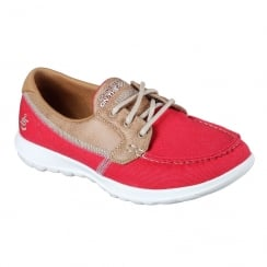 Skechers Womens GOwalk Lite Coral Red Boat Shoe