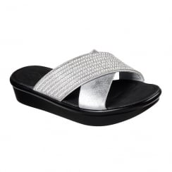 Skechers Bumblers Summer Scorcher Silver Slip On Sandals