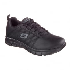 Skechers Work Relaxed Fit Sure Track Erath Black Sneakers