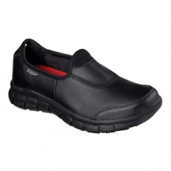 Skechers Work Relaxed Fit Sure Track Black Sneakers