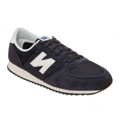 New Balance Mens 420 Navy Suede Sneakers