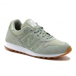 New Balance Womens Suede Mint Sneakers