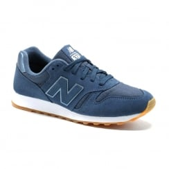 New Balance Womens Suede Blue Sneakers