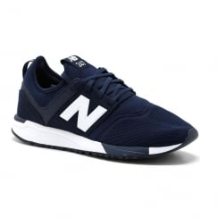 New Balance Mens Navy/White 247 Textile Sneakers