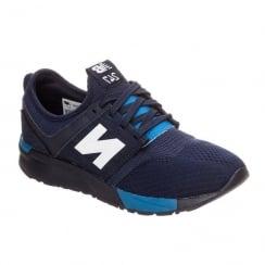 New Balance Junior Mesh Navy Sneakers