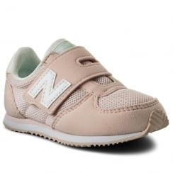 New Balance Girls 220 Pale Pink Velcro Sneakers