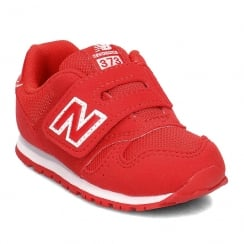 New Balance Junior Unisex 373 Red Velcro Sneakers