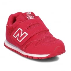 New Balance Infant Girls 373 Fuchsia Pink Velcro Sneakers