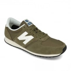 New Balance Mens Sport Style Khaki U420 Re-Engineered Suede Sneakers