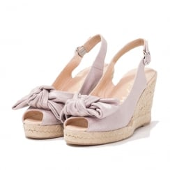 Unisa Slingback Lilac Wedge Espadrille Sandals