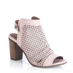 Jocee and Gee Bouvardia Pink Heeled Peep Toe Sandals