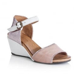 Jocee and Gee Gardenia Pink Wedge Heeled Sandals