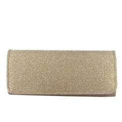 Menbur Luzzasco Gold Sparkle Rectangle Clutch Bag