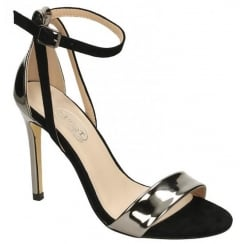 Spot On Pewter Barely There Strappy Sandal