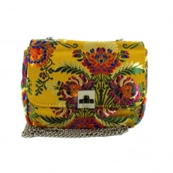 Menbur Albareto Yellow Floral Print Clutch Bag