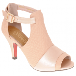 Kate Appleby Margate Pink Peep-Toe Open Boot