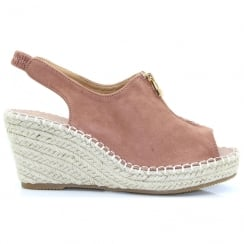 Kate Appleby Keston Pink Suede Wedge Sandal