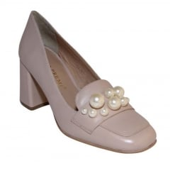 Bruno Premi Nude Heels With Pearls