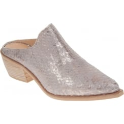 Alpe 3509 Grey Pithon Pointed Toe Mule