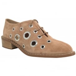 Alpe 3624 Camel Lace Up With Large Eyelets