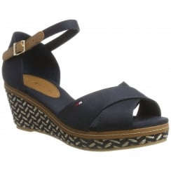 Tommy Hilfiger Elba Navy Wedge Heeled Sandals