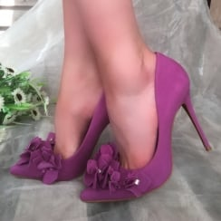 Moda in Pelle Luniz Purple Stiletto heel