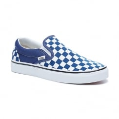 Vans Mens Checker Emboss Classic Blue Textile Slip-On