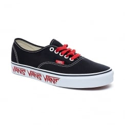 Vans Sketch Sidewall Authentic Black/Red Canvas Trainers