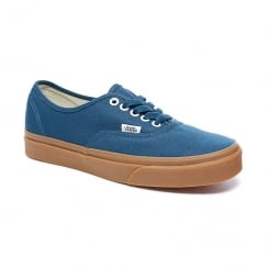 Vans Mens Authentic Blue Low Top Gum Sole Shoes