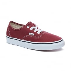 Vans Womens Authentic Light Wine Red Canvas Low Top Shoes