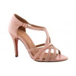 Kate Appleby Carlisle Blush Sparkle T-Bar Heeled Sandals