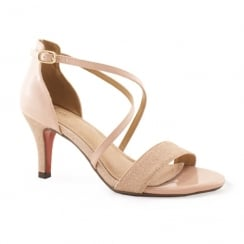 Kate Appleby Jarrow Powder Pink Low Heel Cross Strap Sandal
