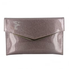 Menbur Purple Shimmer Clutch Bag