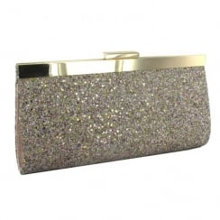 Menbur Arena Gold Multi Glitter Clutch Bag