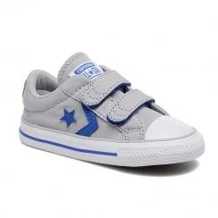Converse Kids Star Player Ox Junior Sneakers - Grey/Blue