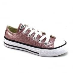 Converse Kids Chuck Taylor All Star Rose Gold Glitter Girls Trainers