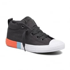 Converse Youth All Star Street Tri-Block Midsole Trainers - Dark Grey