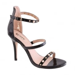 Susst Ladies Cameo High Heel Pearl Black Strappy Sandal