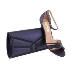 Barino Ladies Navy Diamante Clutch Bag