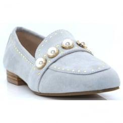 Escape Ladies Vardo Grey Pearl Loafer Shoe