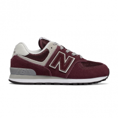 New Balance GC574 Core Plus Suede Burgundy Trainers