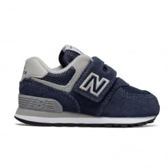 New Balance Infant 574 Velcro Suede Navy Shoes